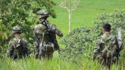 Ocho soldados heridos al caer en un campo minado en Montecristo, Bolívar