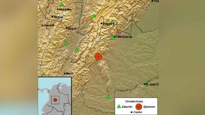 Gráfica del epicentro del sismo.