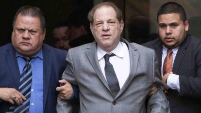 El otrora exitoso productor Harvey Weinstein.