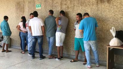 Vista de algunos de los capturados durante los operativos de la Policía contra la banda criminal.