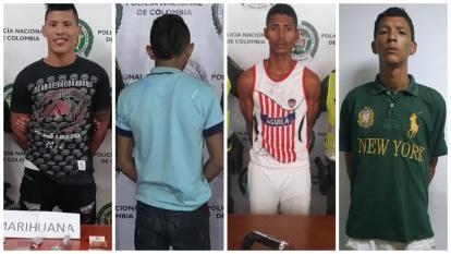 Daniel Enrique Jaraba Martínez, el joven de 17 años, Luis Alfonso Ariza Gómez y Jimmy Alexander Araujo Paredes, capturados.