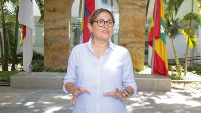 Alma Solano, secretaria de Salud del Atlántico.