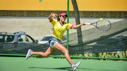 María Camila Torres durante el entrenamiento de este viernes.