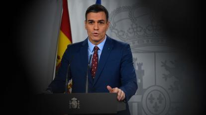 Pedro Sánchez en el anuncio de su gabinete.