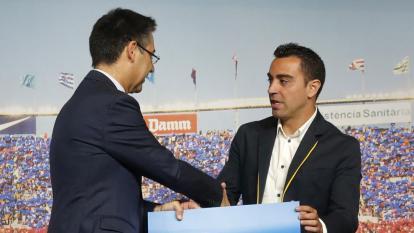 """Xavi será algún día entrenador del club"": Bartomeu, presidente del Barcelona"