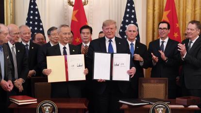 EEUU y China  sellan primera fase de acuerdo comercial