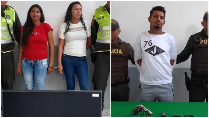 Capturan a dos mujeres y un hombre por hurto en Barranquilla