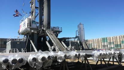 Un pozo que aplica la técnica de fracking en Estados Unidos.