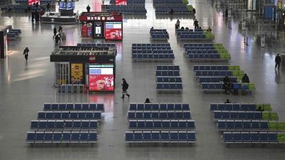 La estación de tren de Hongqioa, que suele estar llena, en Shanghái.