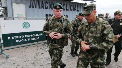Periplo del comandante del Ejército por zonas rojas con ocasión del paro del Eln