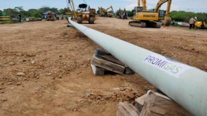 Instalación del gaseoducto.