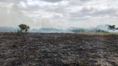 Inundan zonas incendiadas en ciénaga de Corralito, Cereté