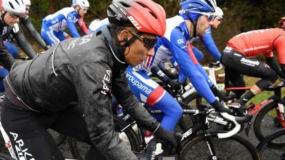 El ciclista colombiano Nairo Quintana en la París-Niza.