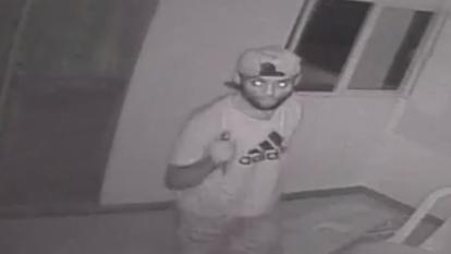 En video | Delincuente entra a casa en el norte y se roba un televisor en 3 minutos