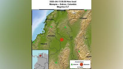 Temblor causó daños leves en Cesar