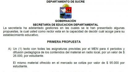 Primera propuesta por parte de la Secretaría, refutada por Ades.