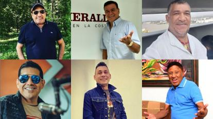 Algunos de los rostros que participarán en la nueva versión de la canción.