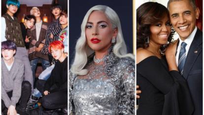 BTS, Lady Gaga, Michelle y Barack Obama.