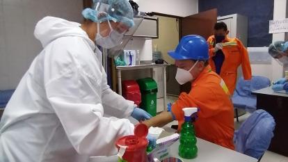 El Puerto samario realizó pruebas rápidas de COVID-19 a empleados