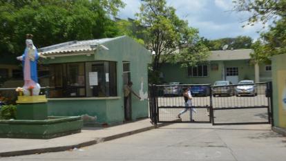 Fachada del Hospital Nuestra Señora de los Remedios de Riohacha, el centro asistencial de mayor importancia en el norte de La Guajira.