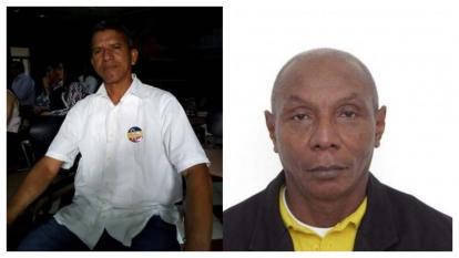 Luis Barrios Machado y Bernardo Cuero, líderes sociales asesinados.