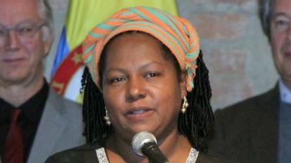 Juana Alicia Ruiz, lideresa social de Mampujan, quien recibió amenazas.