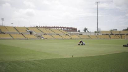 Aspecto del estadio Jaime Morón de Cartagena.