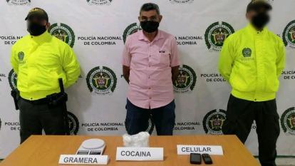 Adulto mayor fue sorprendido con 400 dosis de cocaína en Montería