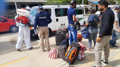 20 venezolanos retornan voluntariamente a su país desde Pueblo Bello, Cesar