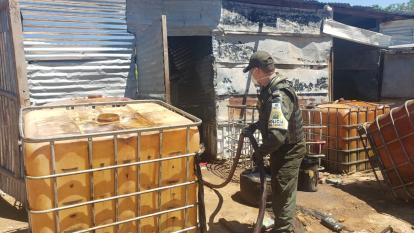 Incautan 8.000 galones de Acpm  de contrabando en Aguachica