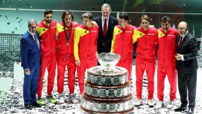 España, actual campeona de la copa Davis.