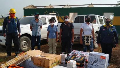 Alcaldía de Barranquilla dona dotación a Bomberos de Sitionuevo