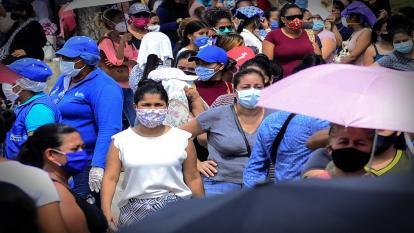 Aspecto del municipio de Soledad, Atlántico, durante el día sin IVA del pasado 19 de junio.