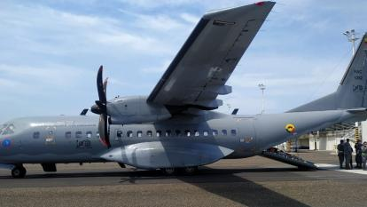 Avión donde fueron trasladados los pacientes a Bogotá.