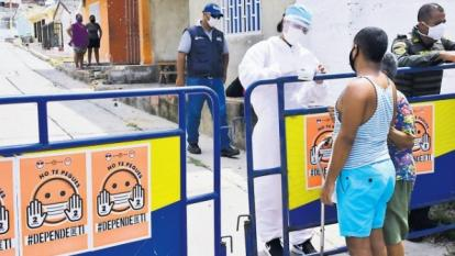 El cerco sanitario de La Playa permitió controlar la velocidad del contagio en este sector de Barranquilla.