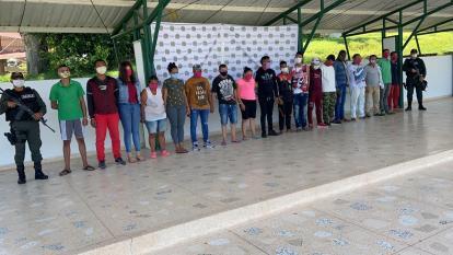 Capturan a 18 presuntos miembros del Clan del Golfo en Sucre