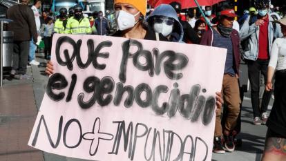 Líderes sociales protestan por la violencia y piden justicia