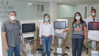 Alcaldía entrega 20 ventiladores para pacientes con COVID-19