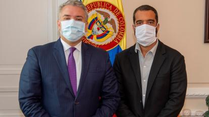 Presidente Duque y Char se enfocan en los retos de la pandemia