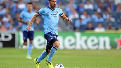 David Villa cuando militaba en el New York City.