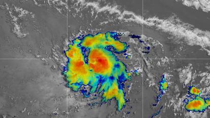 Fuertes vientos por la tormenta Gonzalo en la Alta Guajira