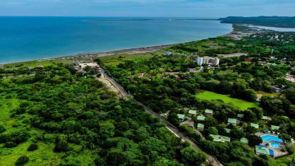 Vista aérea de Tubará, en el territorio se recomienda priorizar el complejo de bosques y matorrales secos para contrarrestar los efectos climáticos.