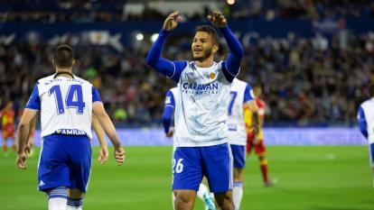 El atacante, de 22 años, fue uno de los jugadores más destacados del Zaragoza esta temporada con 19 goles y seis asistencias.