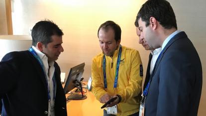 Ernesto Lucena el 26 de julio de 2019, en Lima, Perú, el día de la inauguración de los Juegos Panamericanos, se reunió con el entonces alcalde de Barranquilla, Alejandro Char, y Daniel Noguera para adelantar gestiones en busca de las justas de 2027 para la capital del Atlántico.