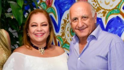 Mónica Name y su esposo Talil Karawi.