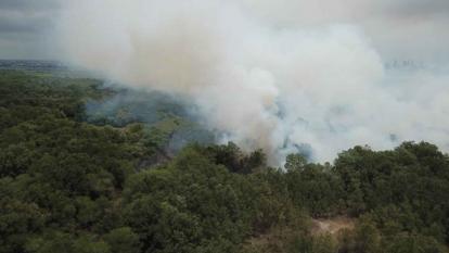 Fuertes vientos han retrasado el control de incendio en Salamanca