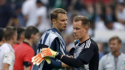 Neuer y Ter Stegen compartiendo en una de las convocatorias de la selección alemana.
