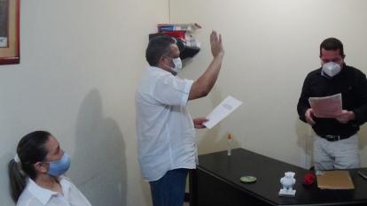 Manuel Cadrazco asume el mando de la alcaldía de San Benito