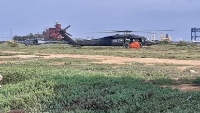 Helicópteros de la FAC apoyaron las labores.