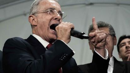 El expresidente y exsenador Álvaro Uribe Vélez.
